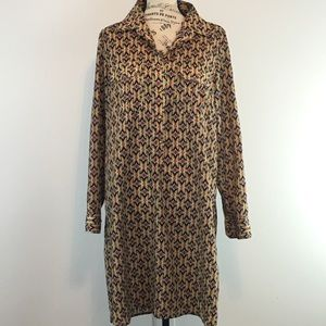 Uncle Frank Long Sleeve button Down Dress